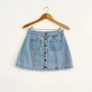 Brandy Melville 27 Button Front Mini Skirt